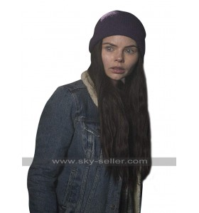 Ryn Siren TV Series Eline Powell Blue Denim Sherpa Jacket