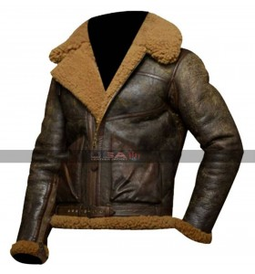 Ralph Lauren Brown Dover Shearling Polo Bomber Jacket