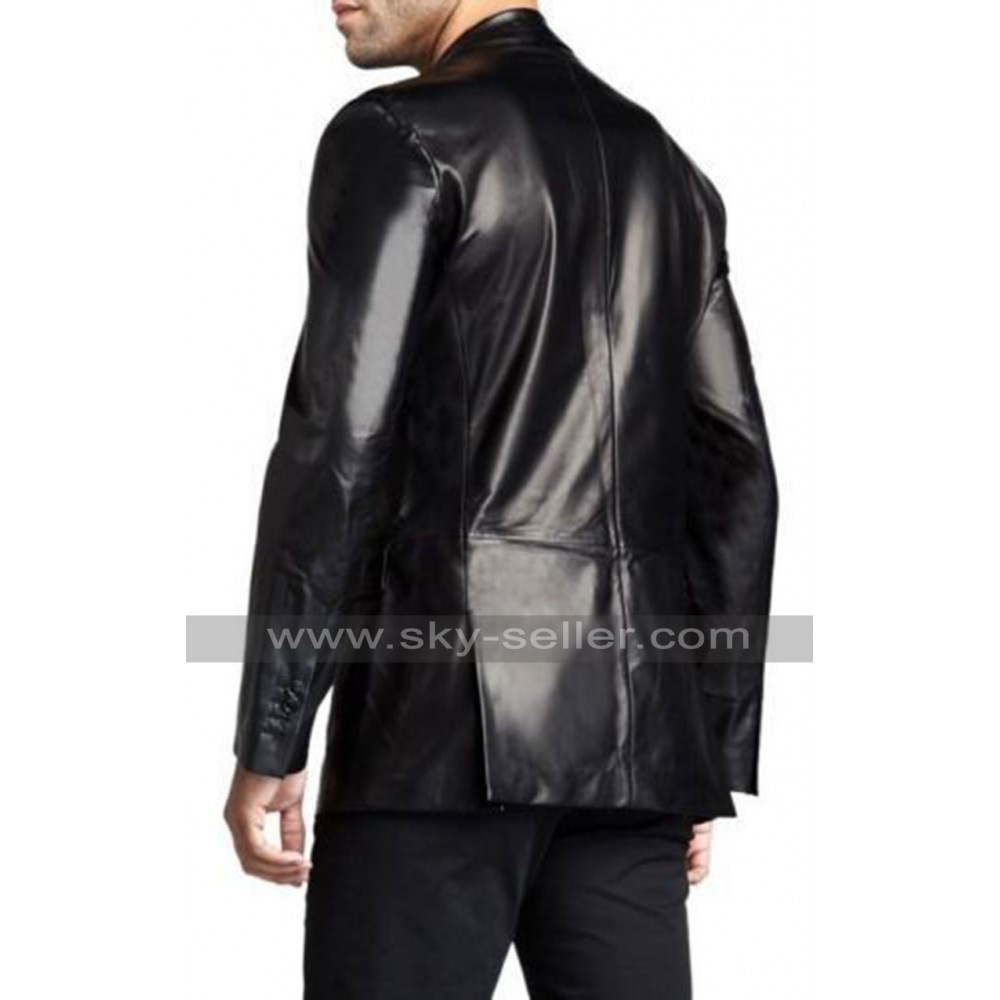 Airborne Leathers Men's Black Leather Blazer Style Insulated Winter Jacket. Size Medium. Barely worn, no damage. Excellent jacket for the upcoming winter. Men Black Leather Sports Coat, Blazer, Suit Jacket. XXL size. $ Buy It Now. or Best Offer. This jacket is made of soft % Genuine Leather. Featuring front three button closure, two.