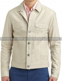 Men's Front Multi Pocket Slimfit Leather Jacket