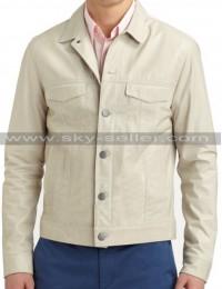 Men's Front Multi Pocket Slimfit Leather Jacket
