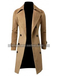 Slim Fit Men Winter Casual Peacoat Style Long Coat