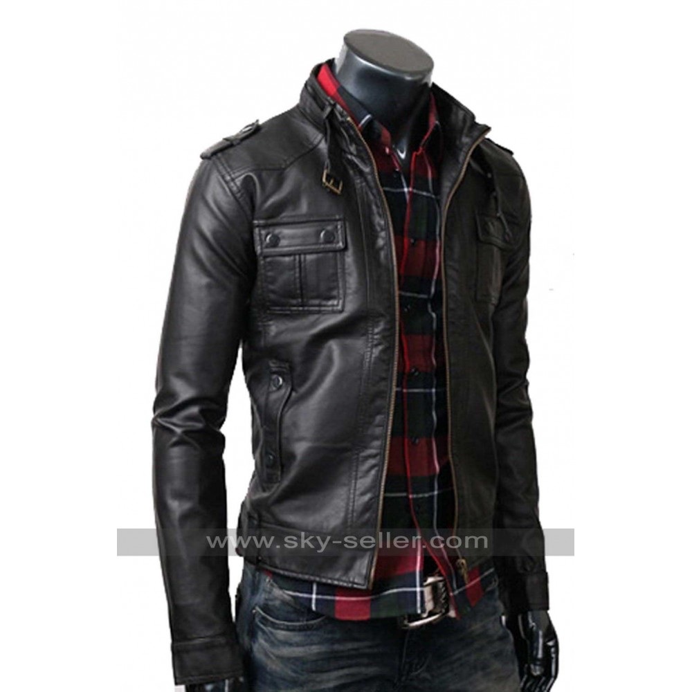 Master Distressed Slim Fit Leather Biker Jacket at the Official Harley-Davidson Online Store. The inspiration behind our Master Distressed Slim Fit Leather Biker Jacket is no secret. The iconic Biker Jacket silhouette, seen in countless archived images, spawned this re-creation. The natural breaks and distressed details on the lightweight cowhide leather are rendered by hand.