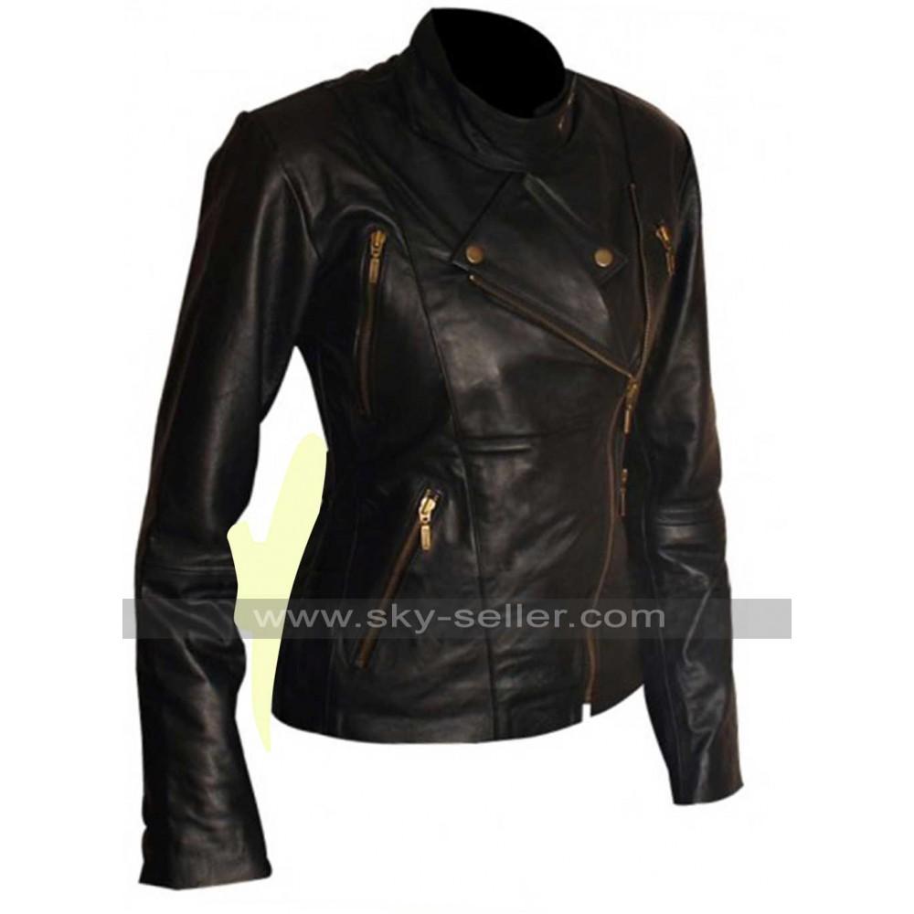 Slim Fit Motorcycle Black Leather Jacket