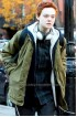 About Ray Elle Fanning Brown Fur Collar Jacket