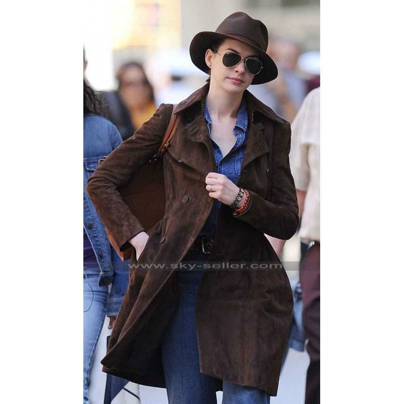 Hathaway Brown Suede Trench Coat