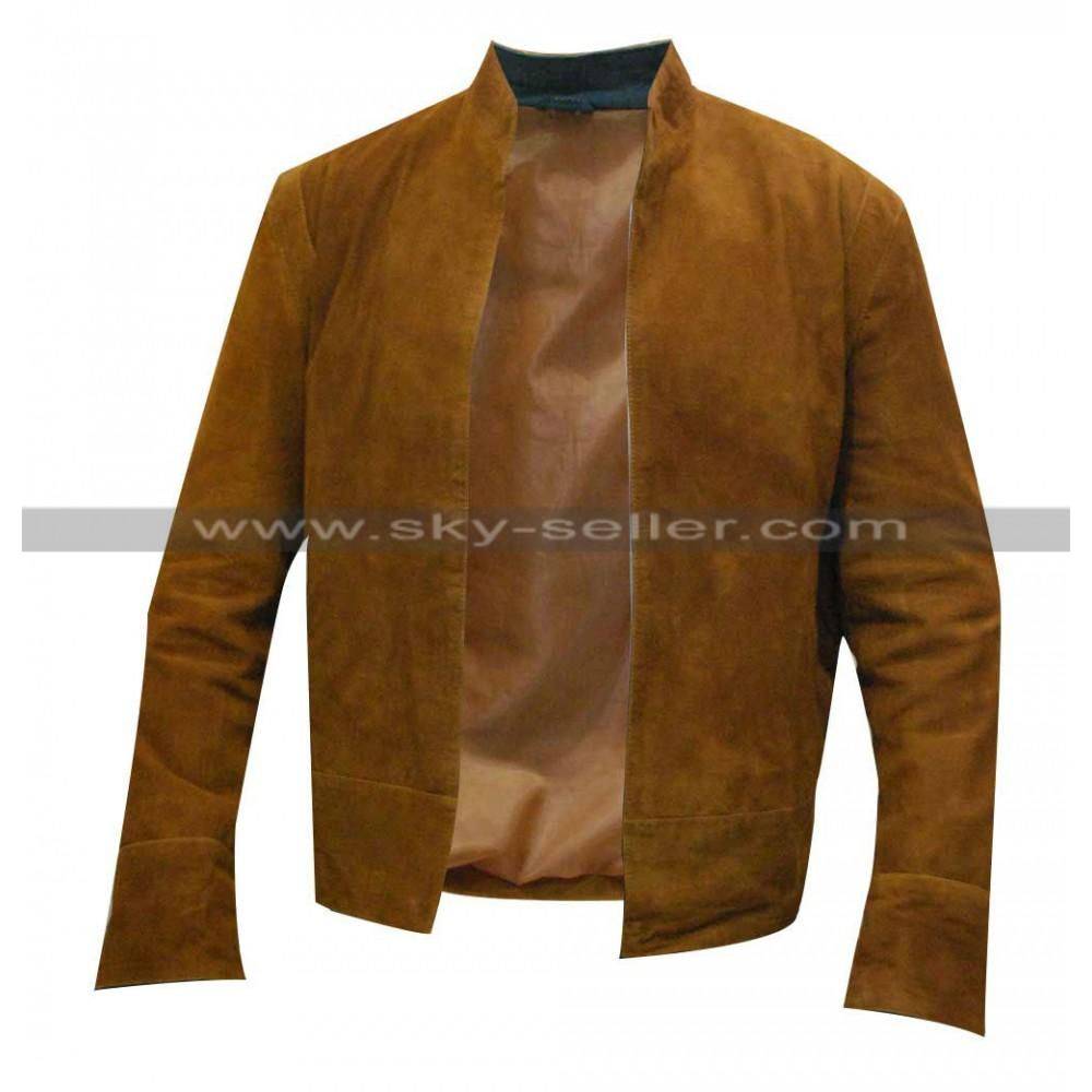 Colin Morgan Merlin Brown Suede Leather Jacket