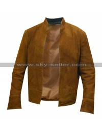 Colin Morgan Merlin Brown Suede Leather Jacket