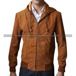 Jackie & Ryan Ben Barnes Brown Suede Bomber Jacket