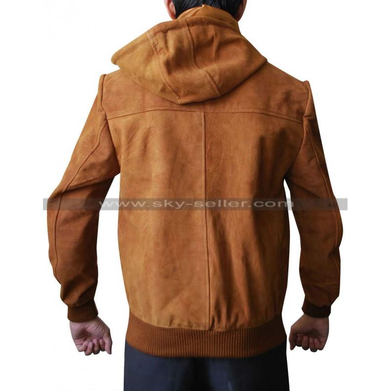 Suede hoodie