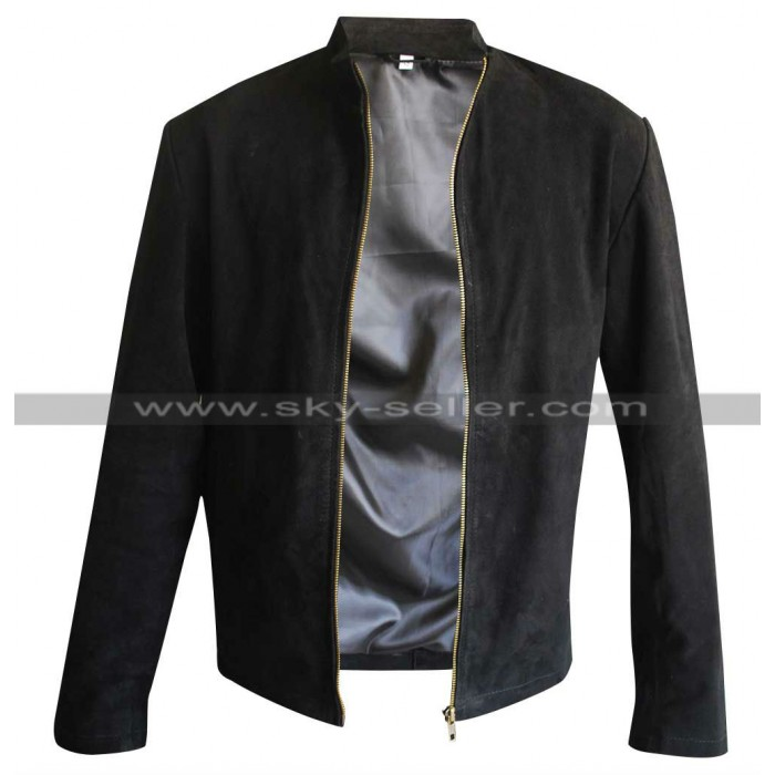 James Bond Spectre Daniel Craig Black Suede Jacket