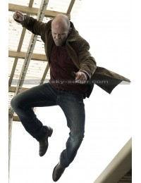 Jason Statham Wild Card Nick Brown Suede Jacket