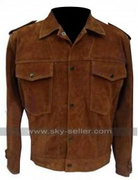 Rubber Soul John Lennon Suede Leather Jacket