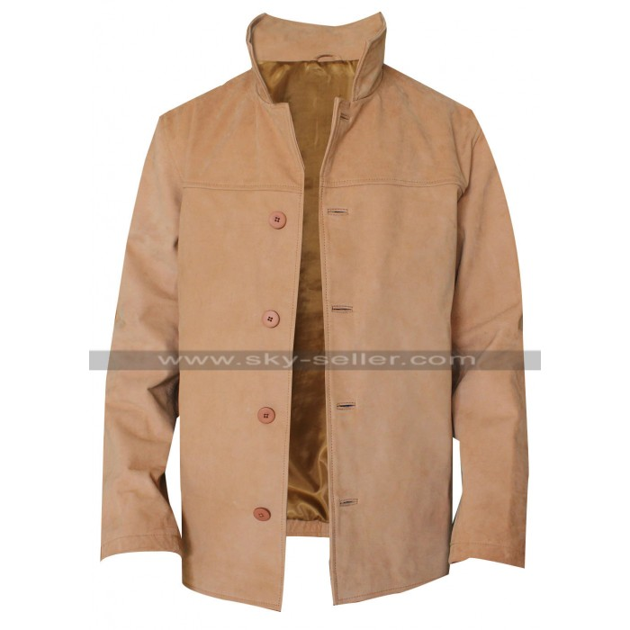 Vanilla Sky Tom Cruise Brown Suede Leather Jacket