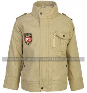 Men Stylish Summer Cotton Beige Jacket