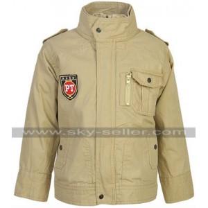 Men Stylish Summer Cotton Beige Jacket