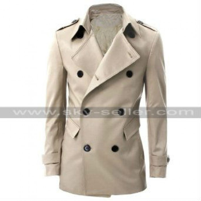Mens Casual Summer Parties Double Breasted Coat
