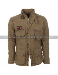 UK Summer Rally Brown Jacket for Unisex