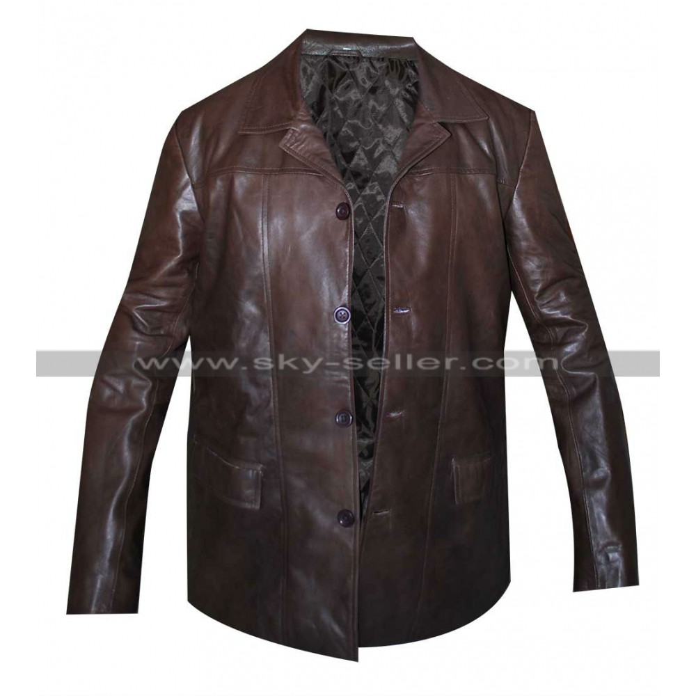 24 Season 8 Jack Bauer Brown Leather Jacket