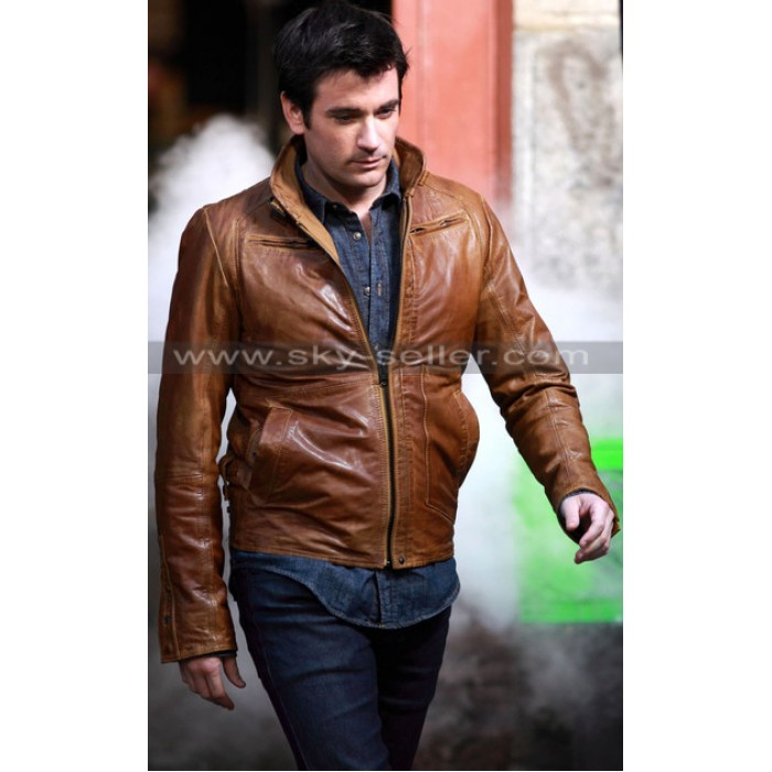 Tommy Merlyn Arrow Distressed Brown Leather Jacket