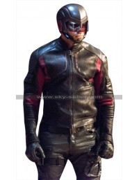 Arrow John Diggle Spartan (Green Arrow) Costume Leather Jacket