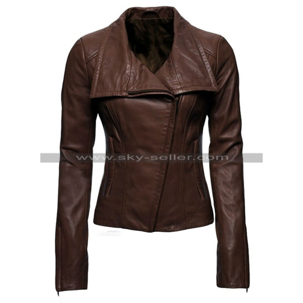 Arrow Lyla Michaels Brown Leather Jacket