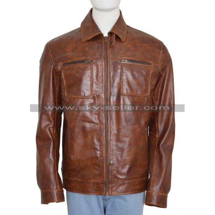 John Diggle Arrow Season 4 Brown Leather Jacket