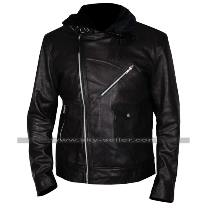 24 Legacy Isaac Carter (Ashley Thomas) Fur Collar Leather Jacket