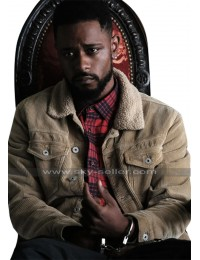 Atlanta Darius (Lakeith Stanfield) Fur Collar Beige Corduroy Jacket
