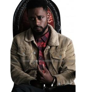 Atlanta Darius (Lakeith Stanfield) Fur Collar Beige Corduroy Jacket