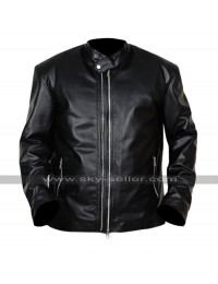 Lucifer Amenadiel (D.B. Woodside) Biker Black Leather Jacket