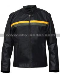 Dylan Massett Bates Motel Black Leather Jacket