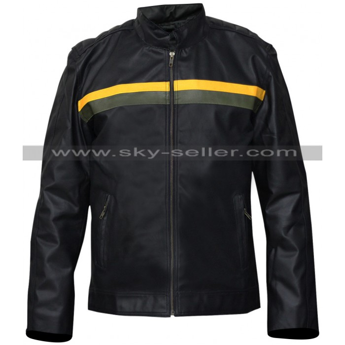 Dylan Massett Bates Motel Black Leather Jacket