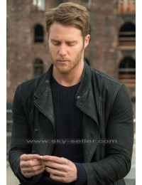 Brian Finch Limitless Jake Mcdorman Black Leather Jacket