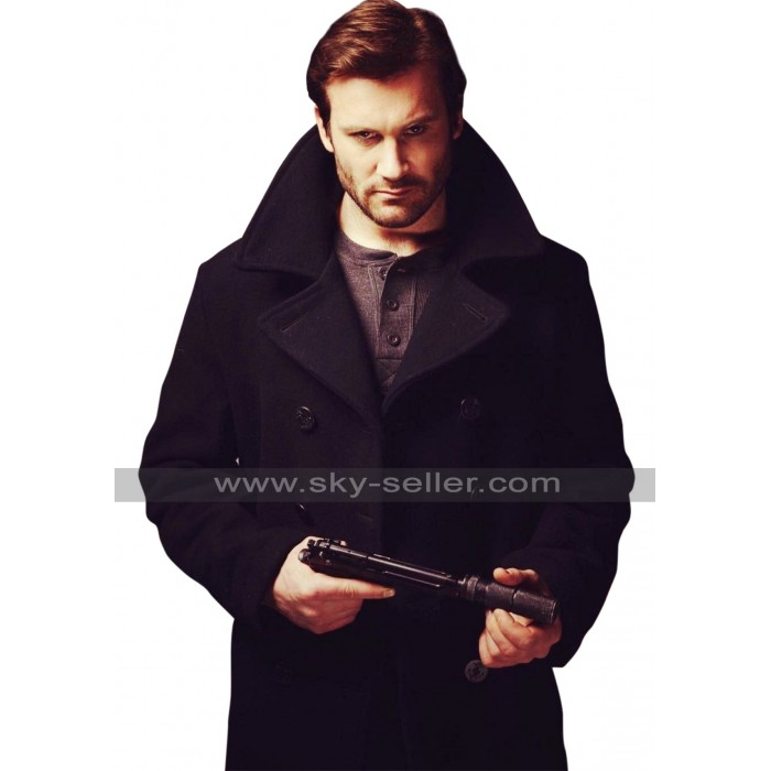 Taken Tv Series Clive Standen Black Wool Coat