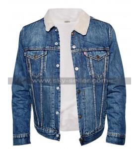 Riverdale TV Series Cole Sprouse Blue Denim Fur Jacket