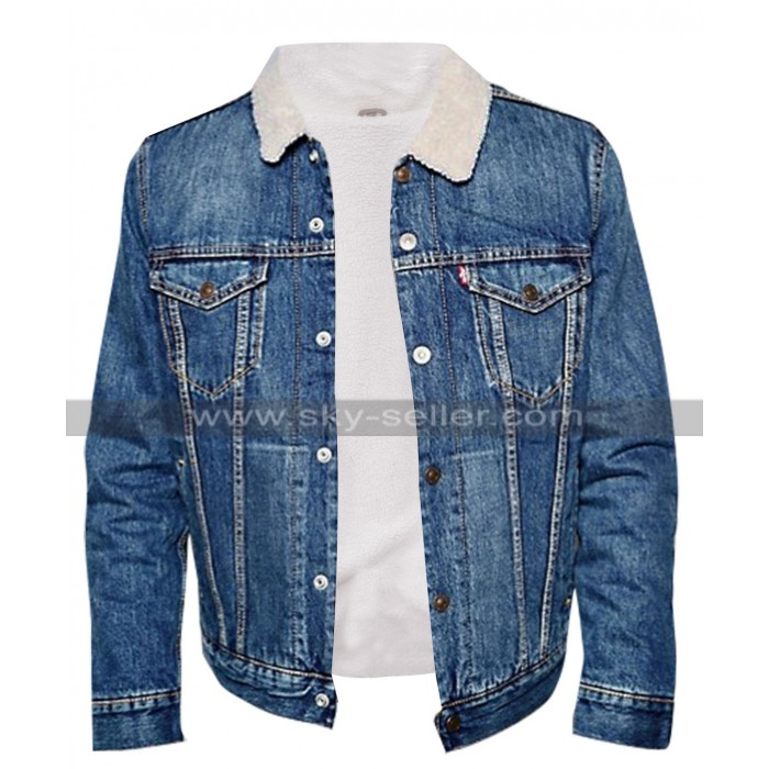 Riverdale TV Series Cole Sprouse Blue Denim Fur Jacket