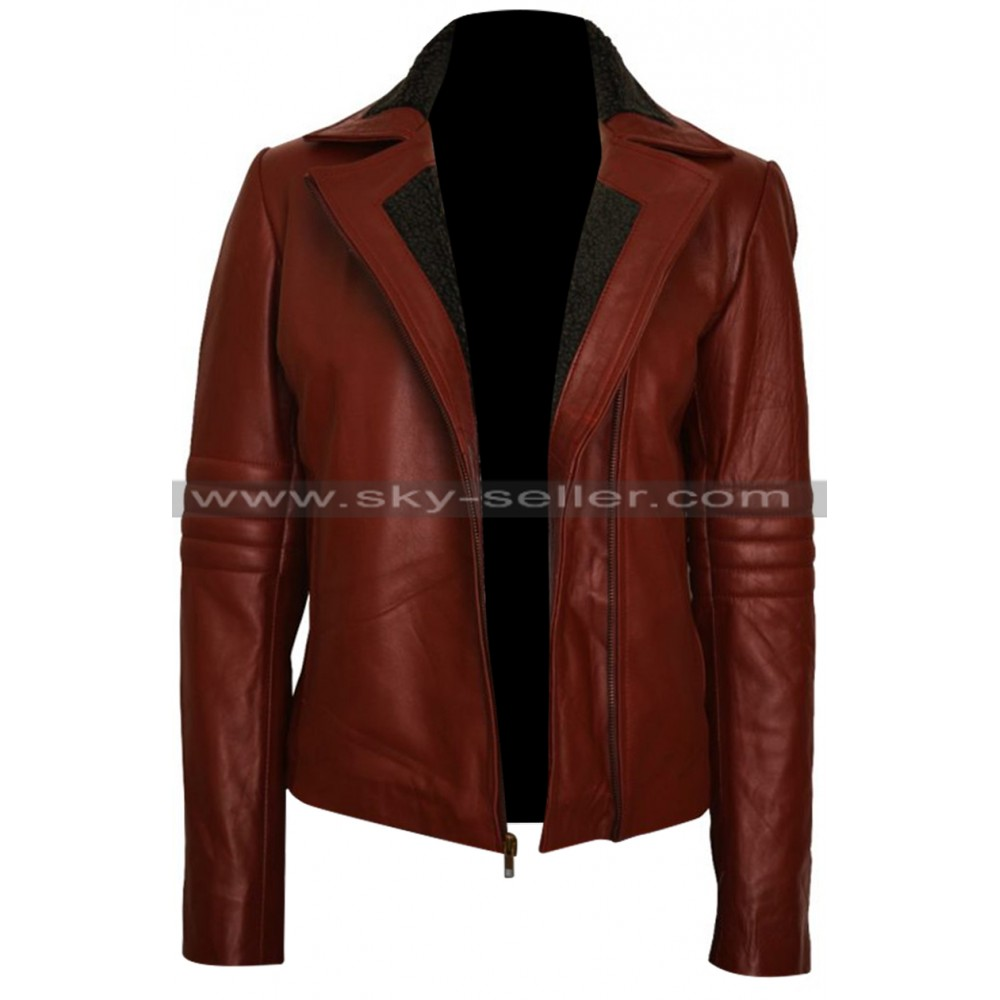 Ash Vs Evil Dead Kelly Maxwell Maroon Leather Jacket