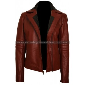 Ash Vs Evil Dead Kelly Maxwell Maroon Leather Jacket