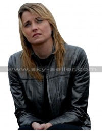 Lucy Lawless Battlestar Galactica D'anna Biers Leather Jacket