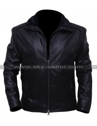 Marc Bendavid Dark Matter One Black Leather Jacket