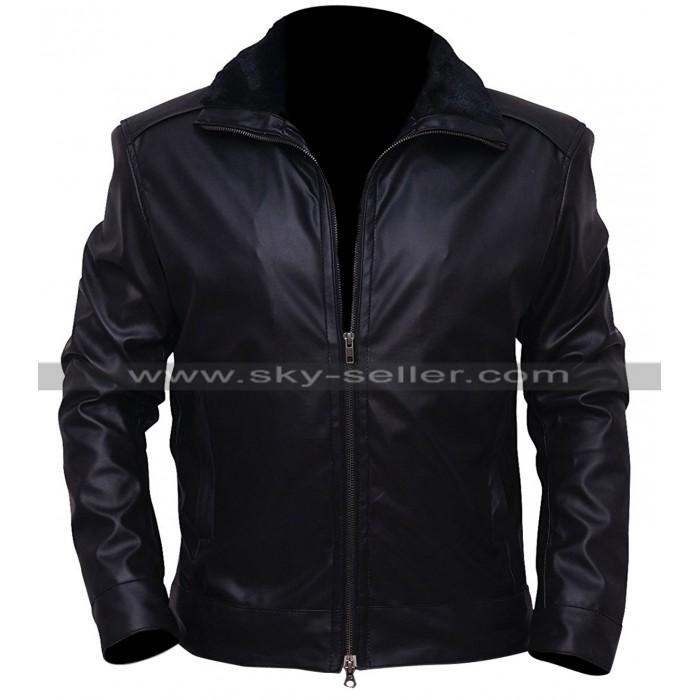 Marc Bendavid Dark Matter One Black Leather Jacket