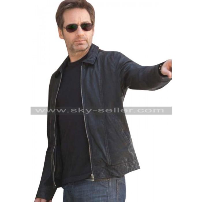 David Duchovny Californication S6 Black Jacket