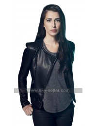 Beyond TV Series Willa (Dilan Gwyn) Round Collar Black Leather Jacket