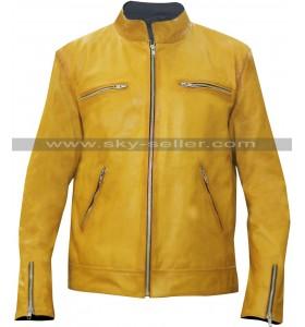 Dirk Gently (Samuel Barnett) Detective Yellow Leather Jacket