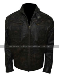 Dominion Alex Lannen (Christopher Egan) Distressed Black Jacket