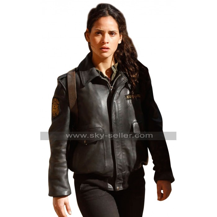 Emerald City Tv Series Adria Arjona Black Jacket