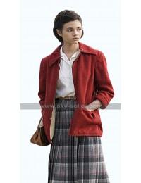 India Eisley I Am the Night Fauna Hodel Red Fleece Jacket