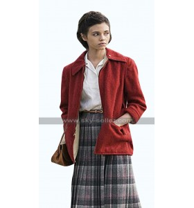 India Eisley I Am the Night Fauna Hodel Red Fleece Jacket