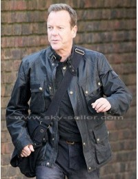Jack Bauer 24 Live Another Day Black Leather Jacket